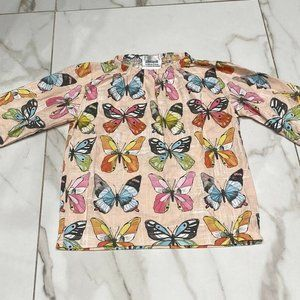 Portaqui Pink Colorful Butterfly Print Dress Sz5